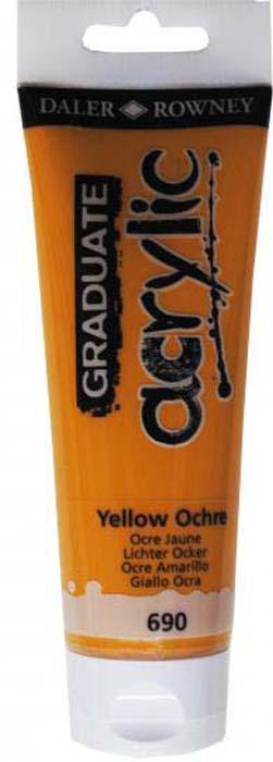 Daler Rowney Краска акриловая Graduate цвет охра желтая 120 мл