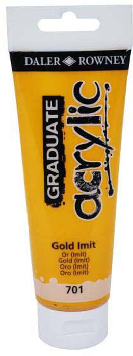 Daler Rowney Краска акриловая Graduate цвет золотой (имитация) 120 мл