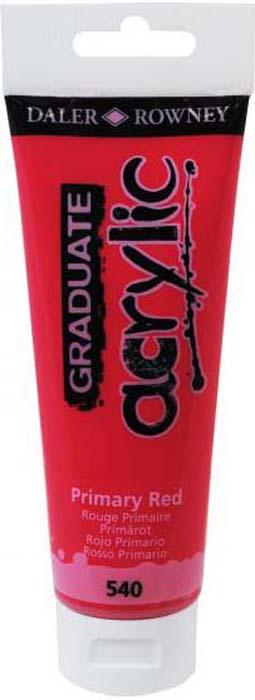 Daler Rowney Краска акриловая Graduate цвет красный основной 120 мл