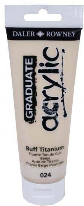 Daler Rowney Краска акриловая Graduate цвет смесь титановых белил 120 мл