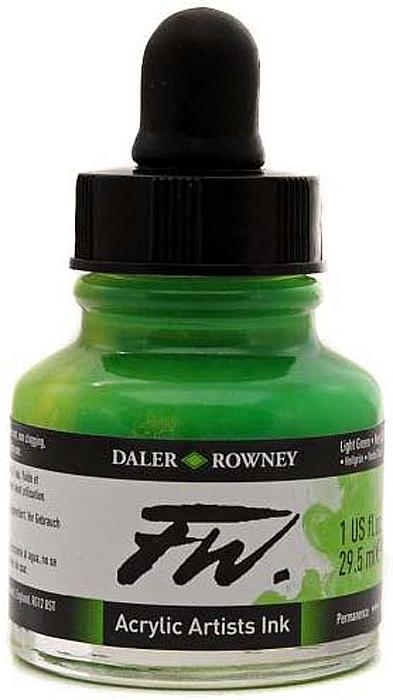 Daler Rowney Чернила акриловые Fw Artists цвет свело-зеленый 29,5 мл