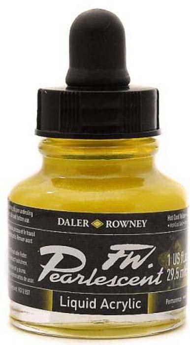 Daler Rowney Чернила перламутровые Fw Artists цвет холодный желтый 29,5 мл
