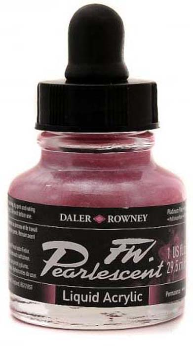 Daler Rowney Чернила перламутровые Fw Artists цвет розовый 29,5 мл