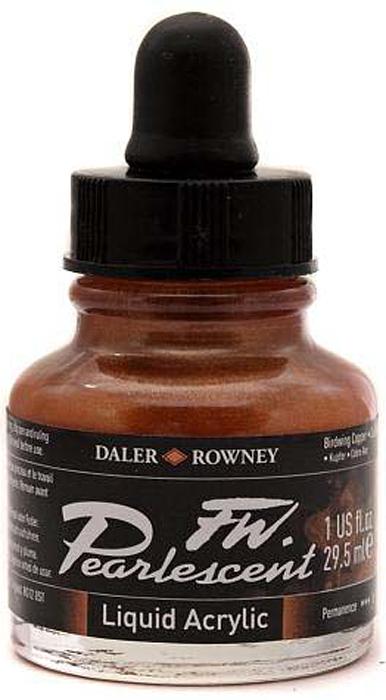 Daler Rowney Чернила перламутровые Fw Artists цвет коричневый 29,5 мл