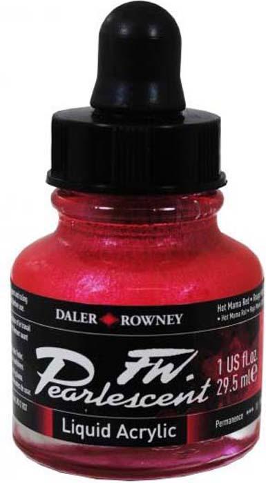 Daler Rowney Чернила перламутровые Fw Artists цвет красный 29,5 мл