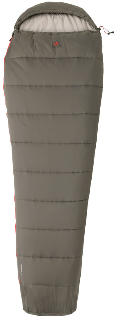 Спальный мешок-кокон Robens FarAway I, цвет: серый, правосторонняя молния, 220 х 75 х 52 см спальные мешки для малышей happybabydays комплект