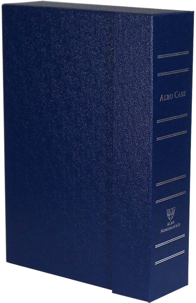 Albo Case - система хранения монет в квадратных капсулах. На 4 кассеты. Синий кассета для монет piano для монетных капсул quadrum 20 ячеек
