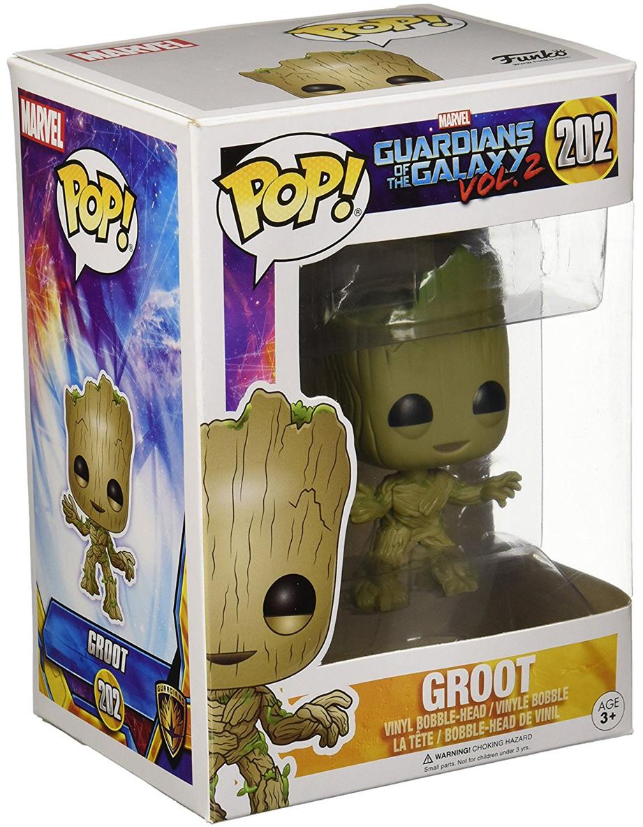 Funko POP! Bobble Фигурка Guardians of the Galaxy 2: Groot building blocks small tree man groot guardians of the galaxy marvel figures starwars super hero bricks kids diy toys hobbies