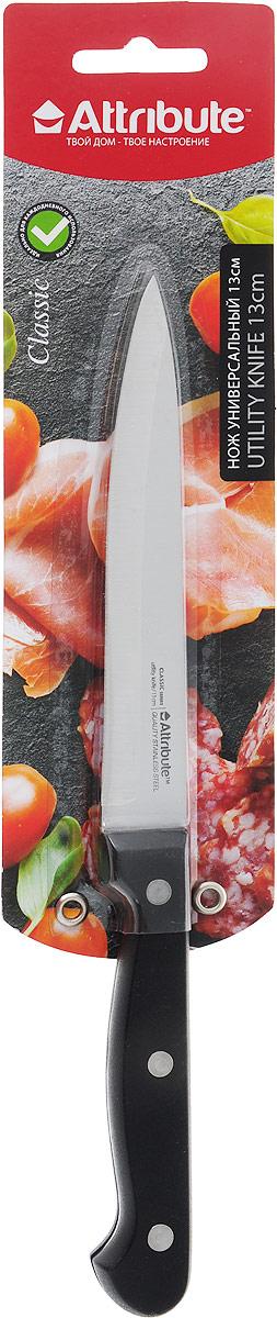 Нож универсальный Attribute Knife Classic, длина лезвия 13 см нож филейный attribute knife country длина лезвия 15 см