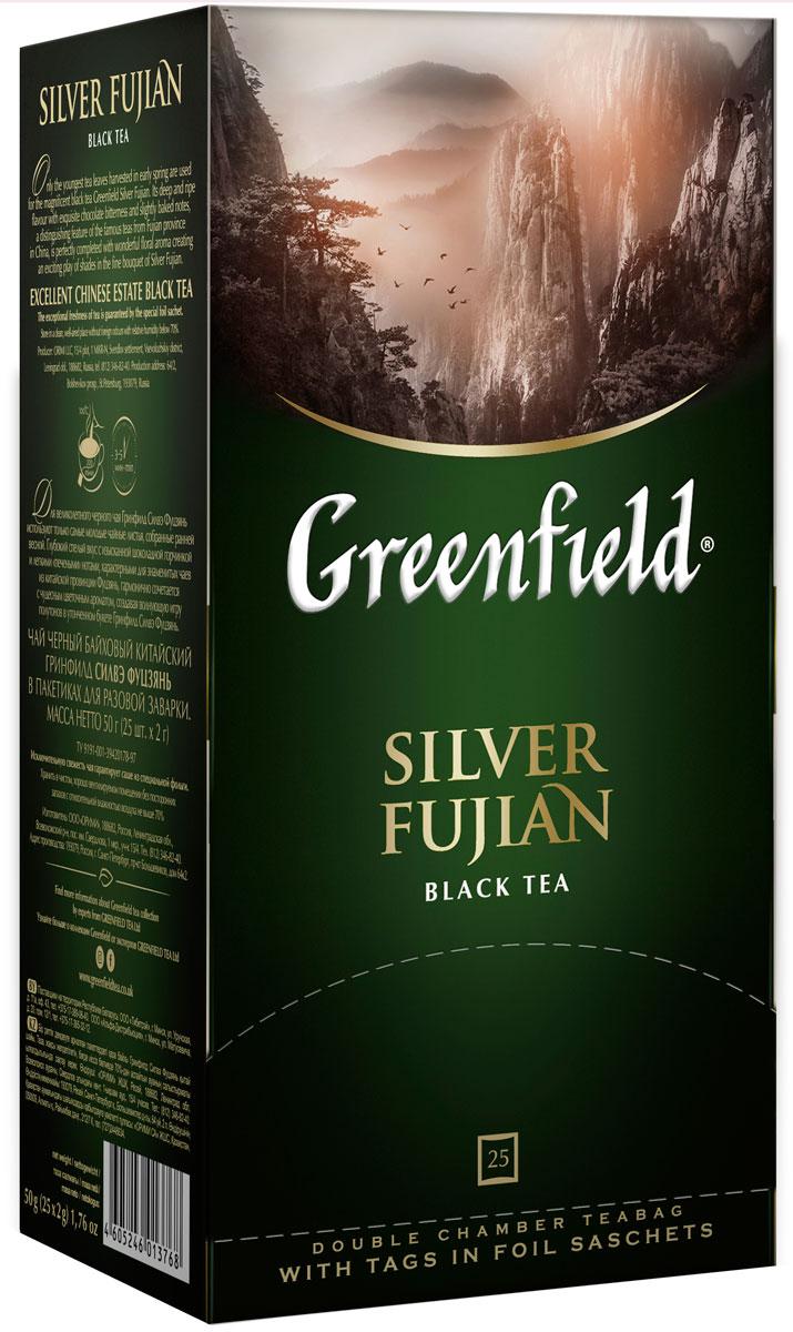 Greenfield Silver Fujianчерный чай в пакетиках 25 шт Greenfield