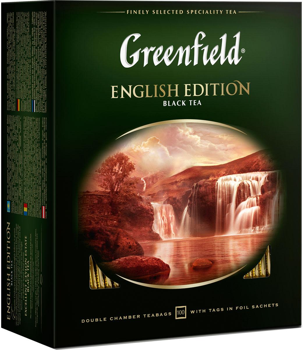 Greenfield English Edition черный чай в пакетиках, 100 шт john greenfield power from on high