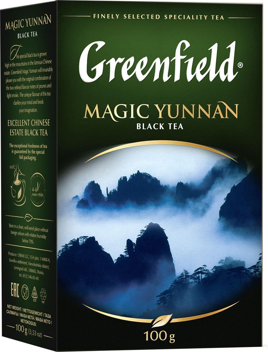 Greenfield Magic Yunnan черный листовой чай, 100 г цена