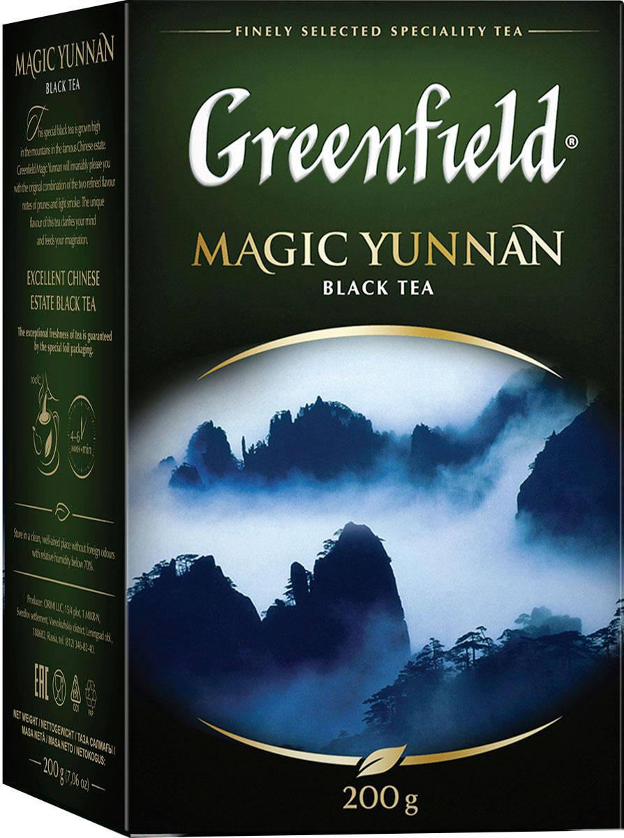Фото - Greenfield Magic Yunnan черный листовой чай, 200 г greenfield earl grey fantasy черный листовой чай 200 г