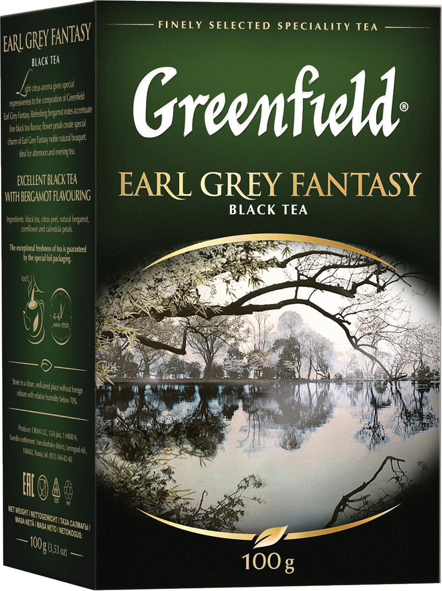 Фото - Greenfield Earl Grey Fantasy черный листовой чай, 100 г greenfield earl grey fantasy черный листовой чай 200 г