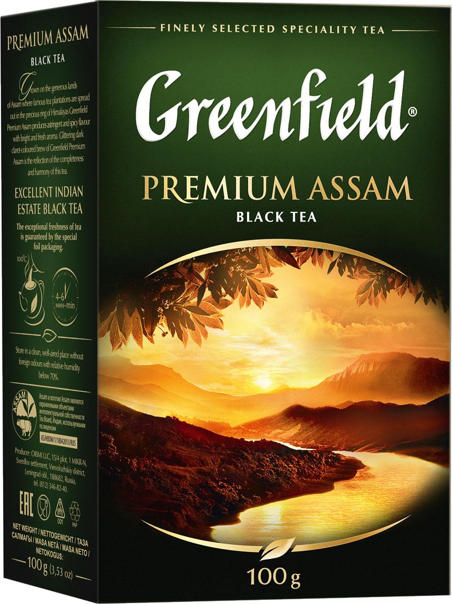 Greenfield Premium Assam черный листовой чай, 100 г 2015 arrival vacuum pack lapsang souchong canton village black tea 500g ceylon assam premium selection count special pearl milk