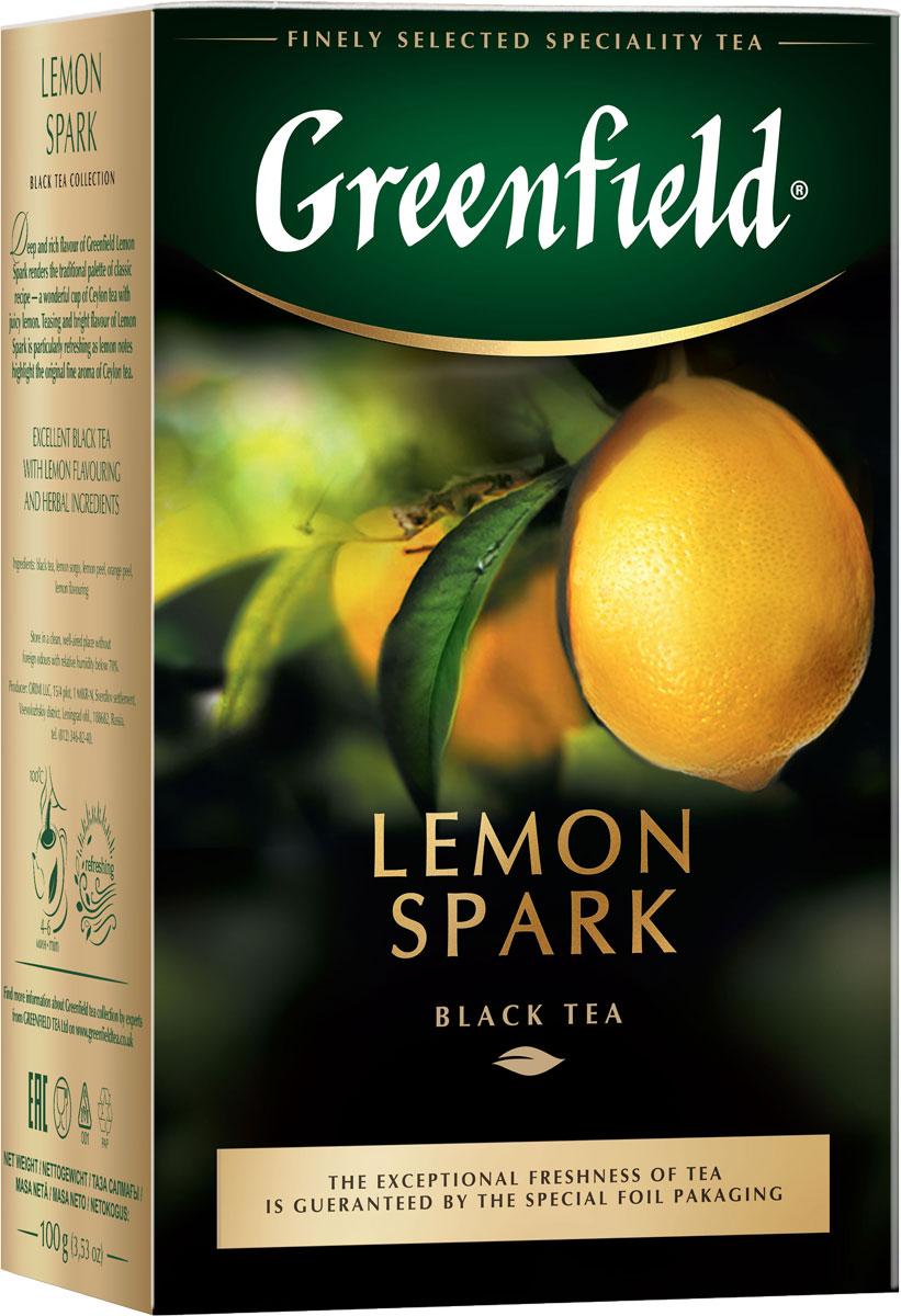 Greenfield Lemon Spark черный листовой чай, 100 г цены