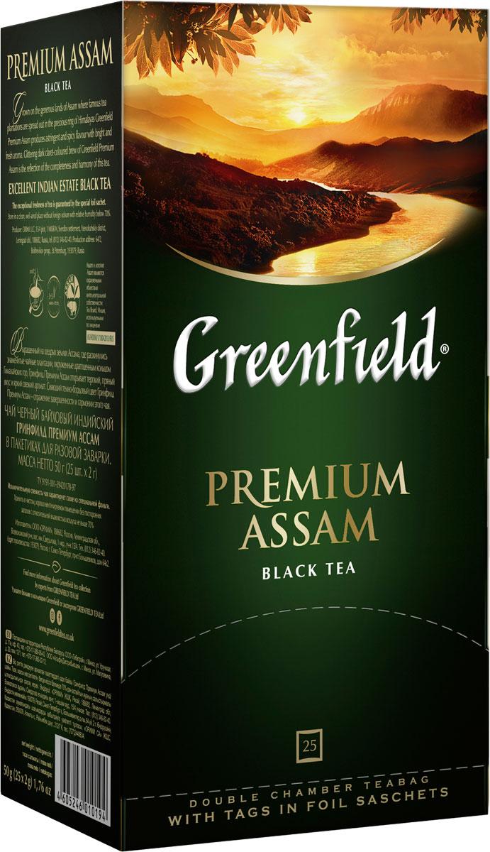 Greenfield Premium Assam черный чай в пакетиках, 25 шт greenfield honey linden черный чай с липой и медом в пакетиках 25 шт