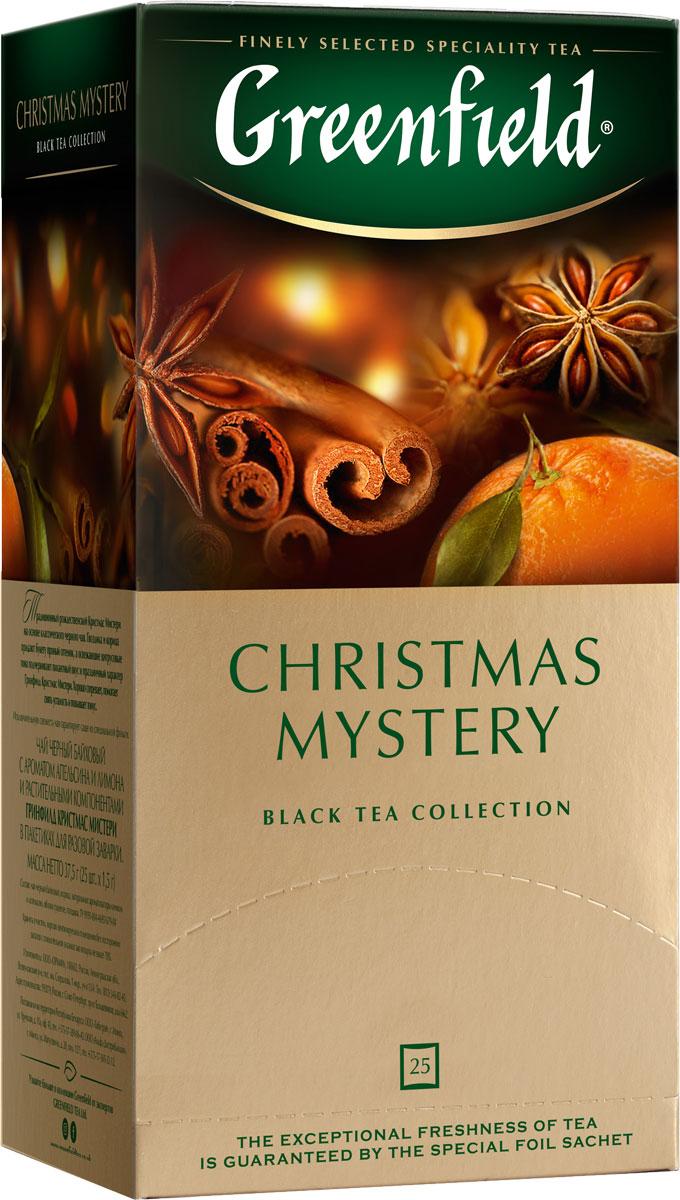 Greenfield Christmas Mystery черный чай в пакетиках, 25 шт greenfield honey linden черный чай с липой и медом в пакетиках 25 шт