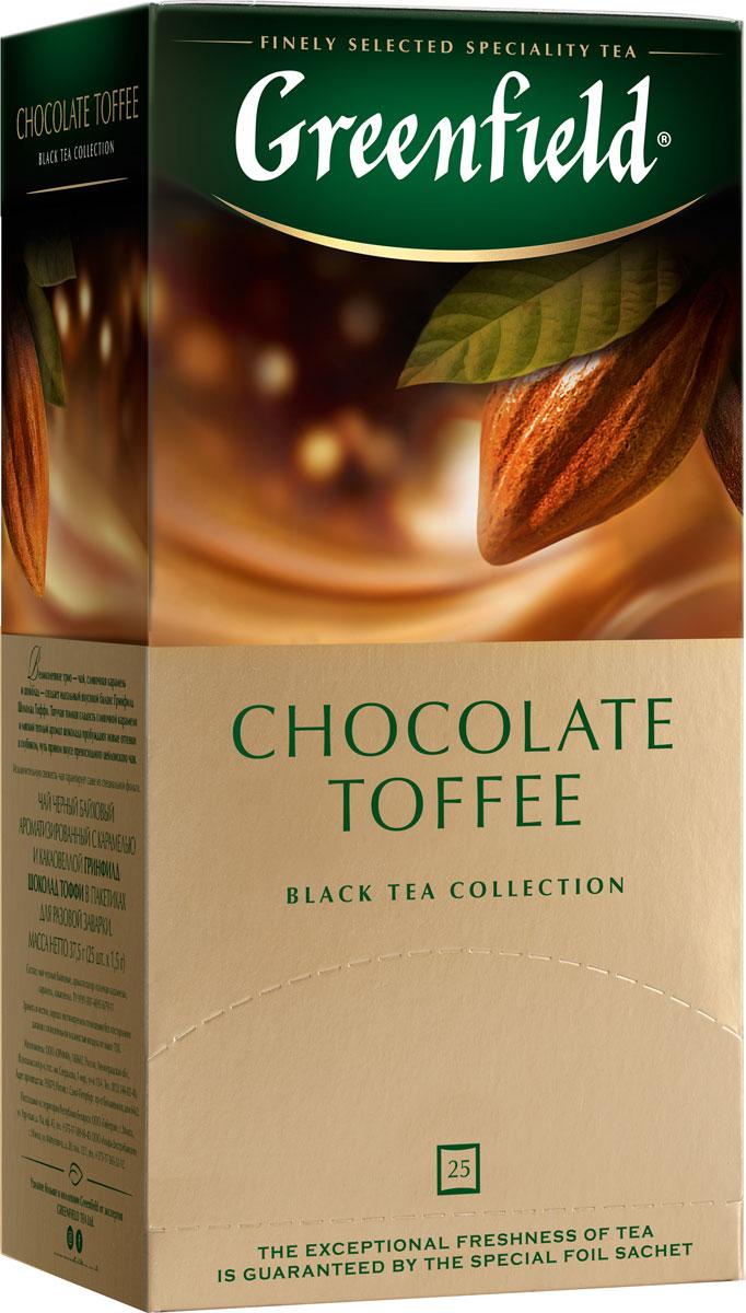 Greenfield Chocolate Toffee черный чай в пакетиках, 25 шт greenfield honey linden черный чай с липой и медом в пакетиках 25 шт