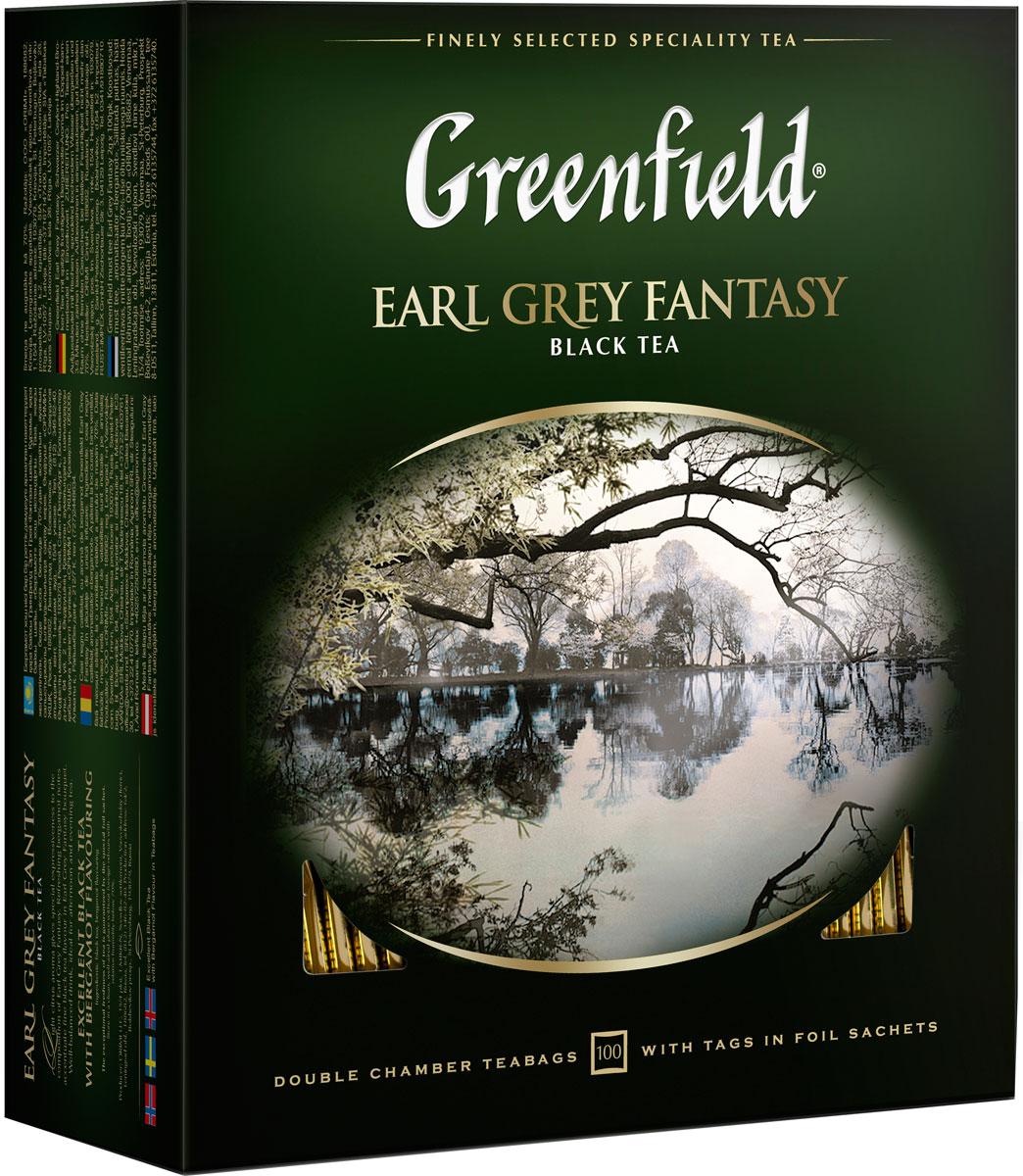 Фото - Greenfield Earl Grey Fantasy черный ароматизированный чай в пакетиках, 100 шт greenfield earl grey fantasy черный листовой чай 200 г