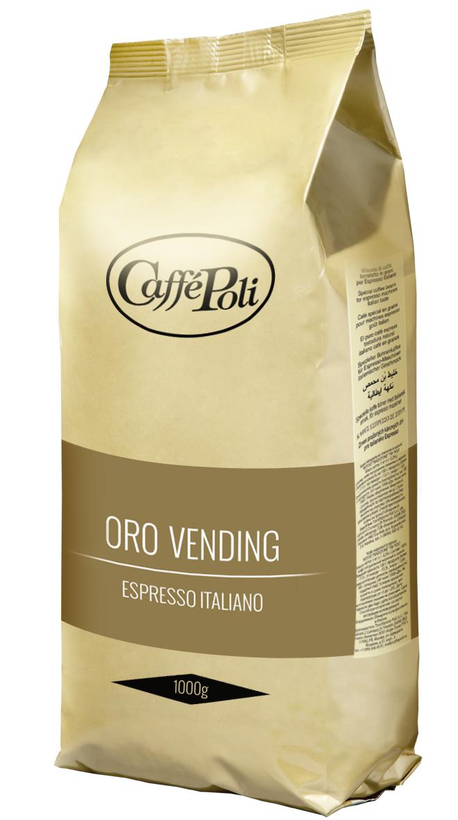 Caffe Poli Oro Vending кофе в зернах, 1 кг кофе в зёрнах malongo итальянский вкус 250 г