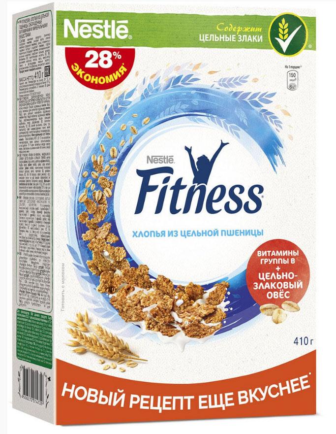 Фото - Nestle Fitness Хлопья из цельной пшеницы готовый завтрак, 410 г nestle fitness хлопья из цельной пшеницы готовый завтрак 250 г пакет