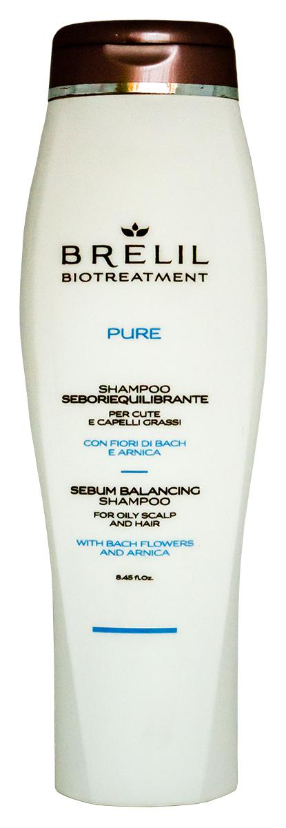 Brelil Bio Traitement Pure Sebum Balancing Shampoo Шампунь для жирных волос, 250 мл brelil professional масло восстанавливающее для сухих волос bio traitement repair oil 200 мл