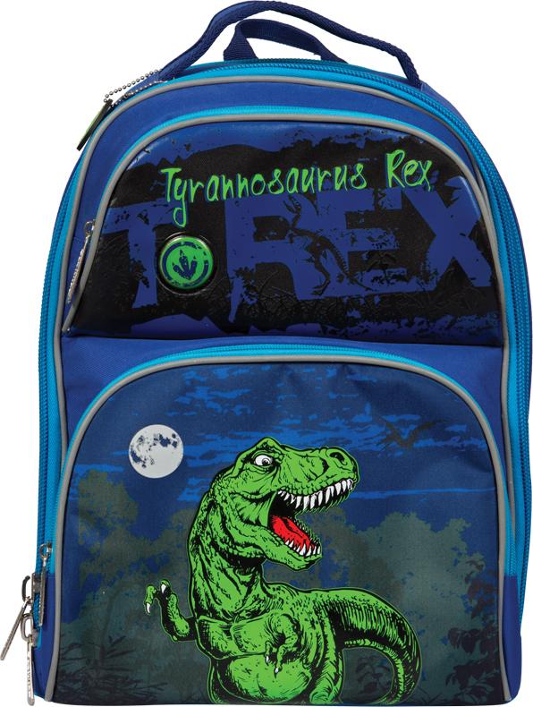Berlingo Ранец школьный Medium Dinosaur254965Школьный ранец серии Медиум предназначен для учащихся младших классов, хорошо держит форму и удобно сидит на спине ребенка, лёгкий и компактный, при этом имеет большую вместительность.