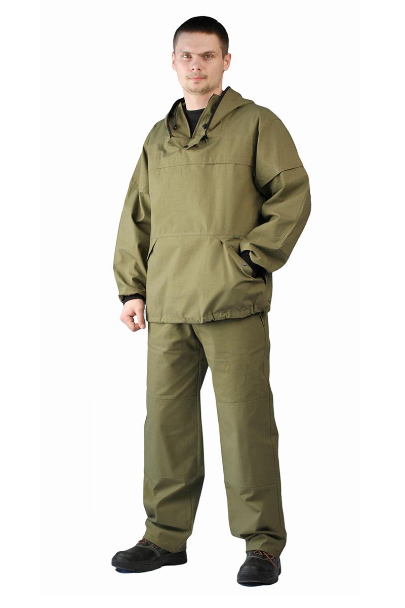 Костюм противоэнцефалитный мужской URSUS: куртка, брюки, цвет: хаки. КОС283-3800. Размер 52/54-182/188