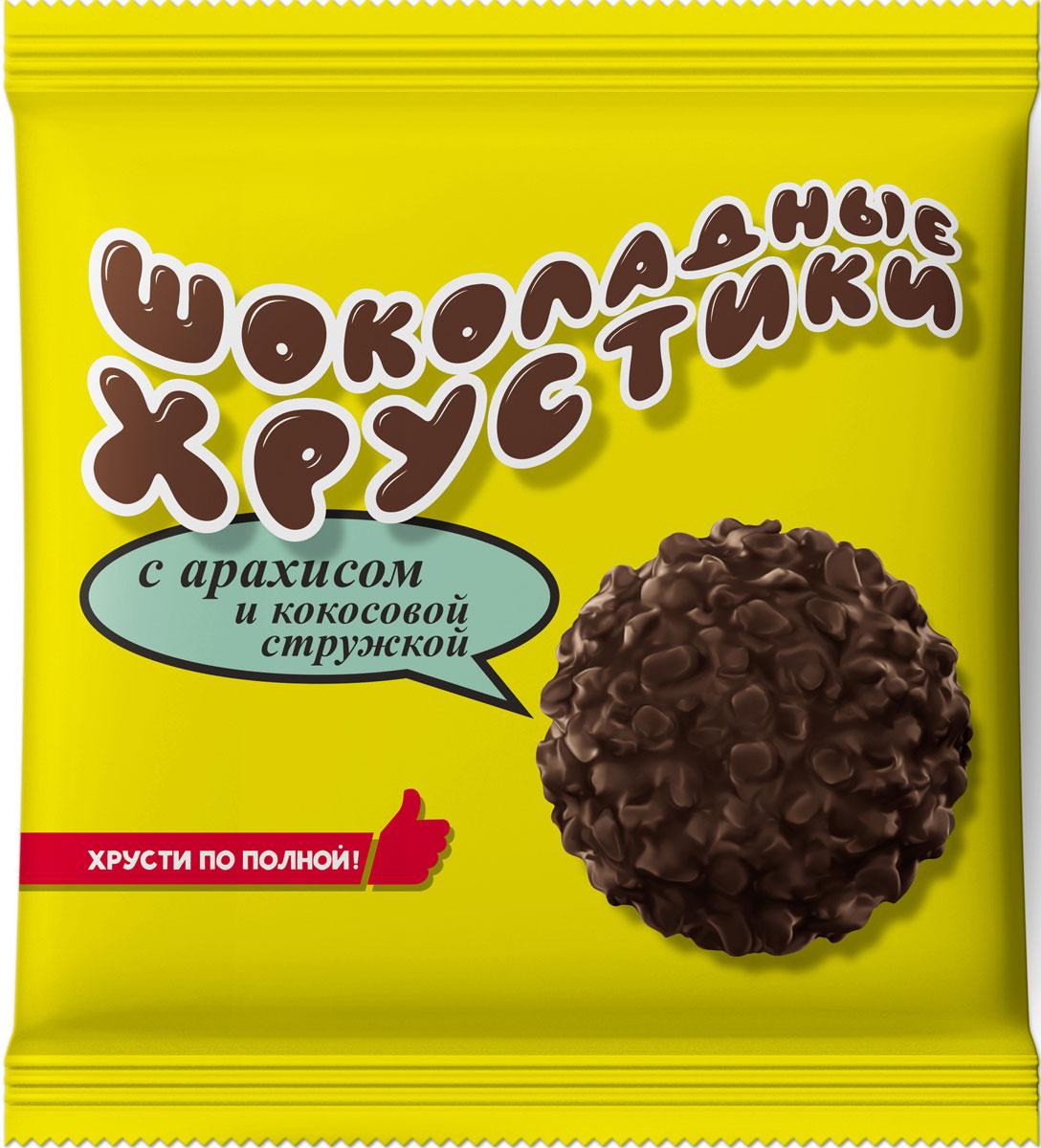 Шоколадные хрустики Конфеты с арахисом и кокосовой стружкой, 170 г шоколеди тайна искушения конфеты шоколадные 195 г