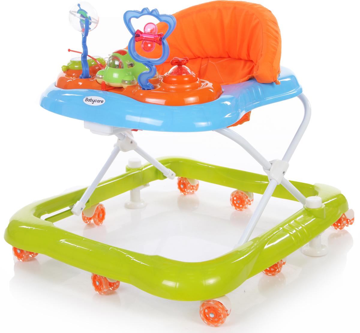 Ходунки Baby Care Mario, GL-800S, синий, зеленый цены онлайн