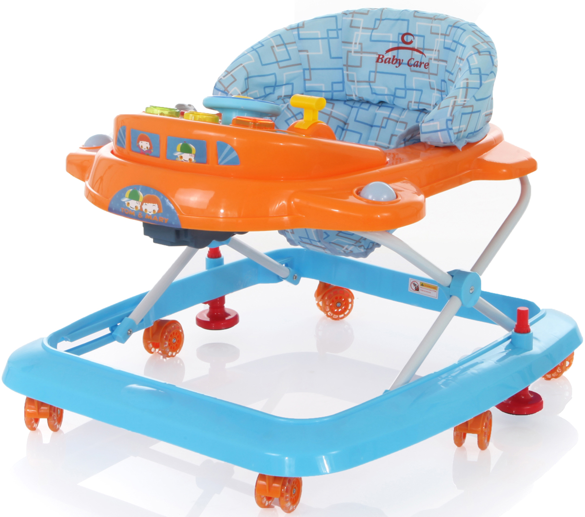 все цены на Ходунки Baby Care Tom & Mary, J-205, синий, желтый онлайн