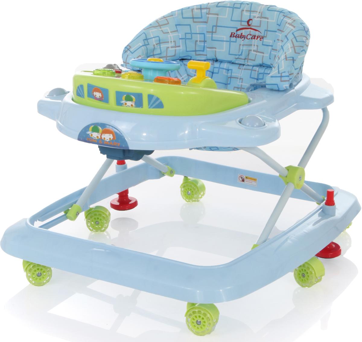 все цены на Ходунки Baby Care Tom&Mary, J-205, синий зеленый онлайн