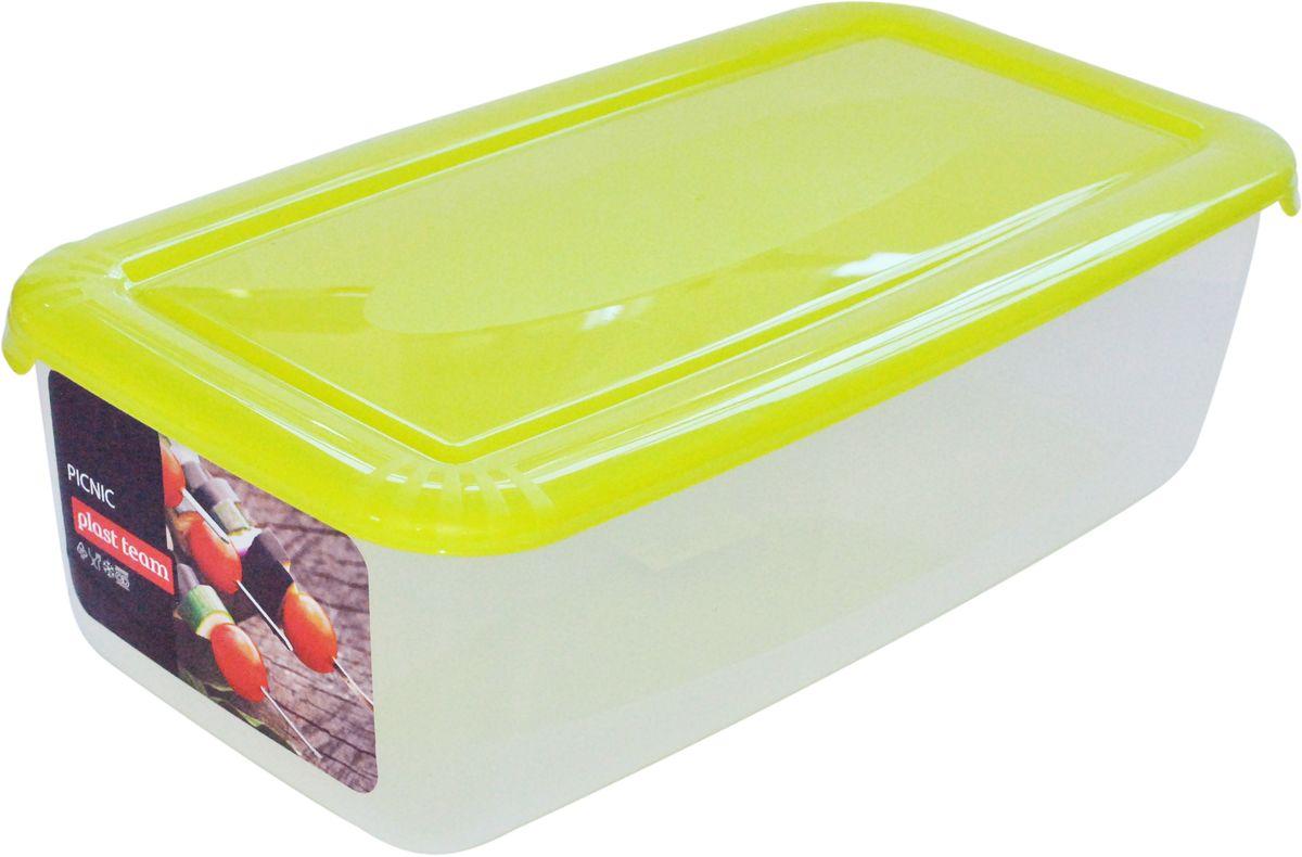 Контейнер для шашлыка Plast Team, цвет: зеленый, 6 л ящик для хранения plast team premium цвет прозрачный 60 л