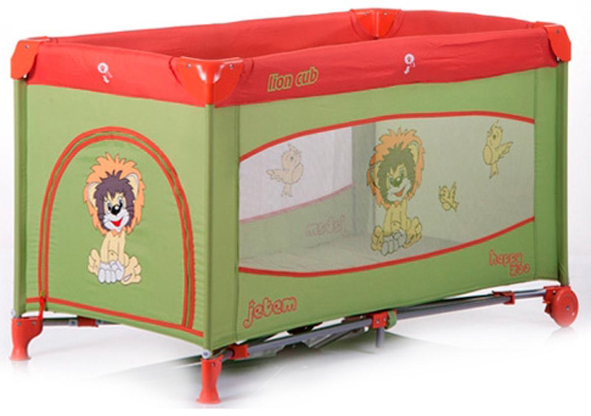 Jetem Манеж-кровать C3 цвет зеленый красный цена