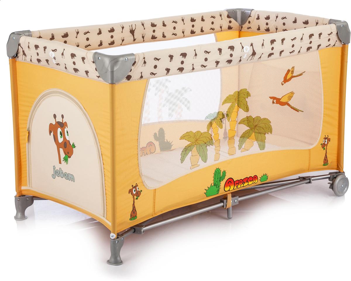Jetem Манеж-кровать C3 цвет оранжевый бежевый цена