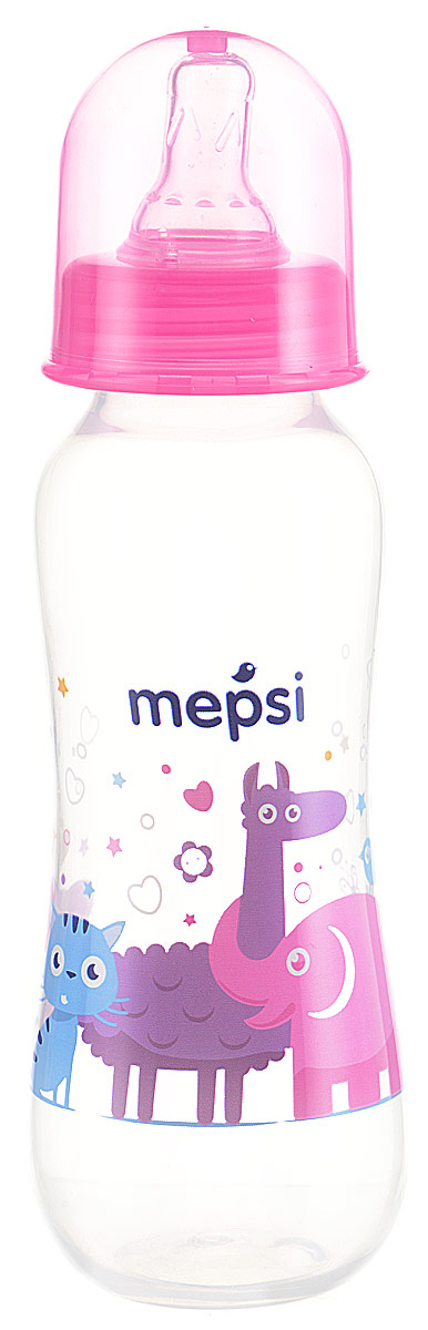 Mepsi Бутылочка для кормления с силиконовой соской от 0 месяцев цвет розовый 250 мл mepsi бутылочка для кормления с силиконовой соской от 0 месяцев цвет бирюзовый 125 мл