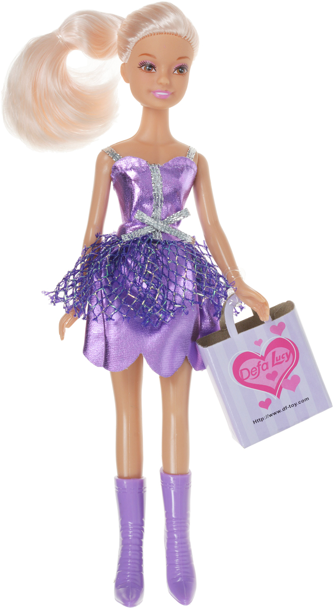 Defa Кукла Lucy цвет платья сиреневый недорго, оригинальная цена