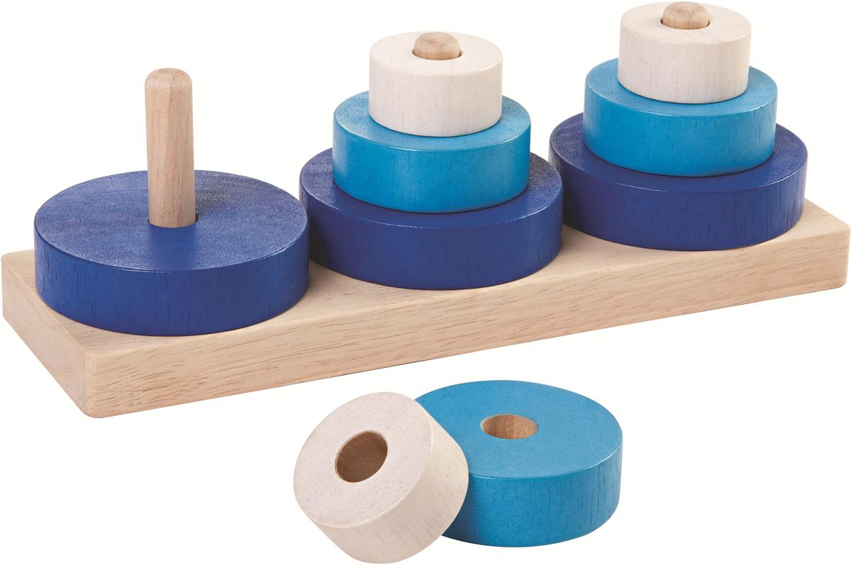 Plan Toys Пирамидка Трио цена
