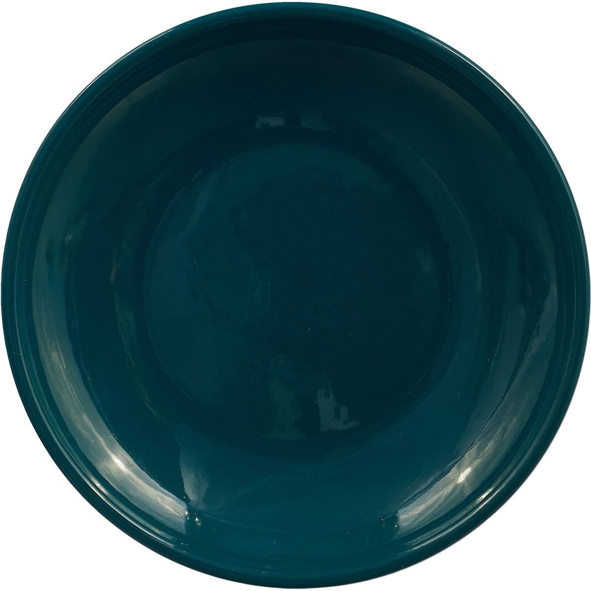 """Блюдце Борисовская керамика """"Радуга"""", цвет: изумрудный, диаметр 10 см"""