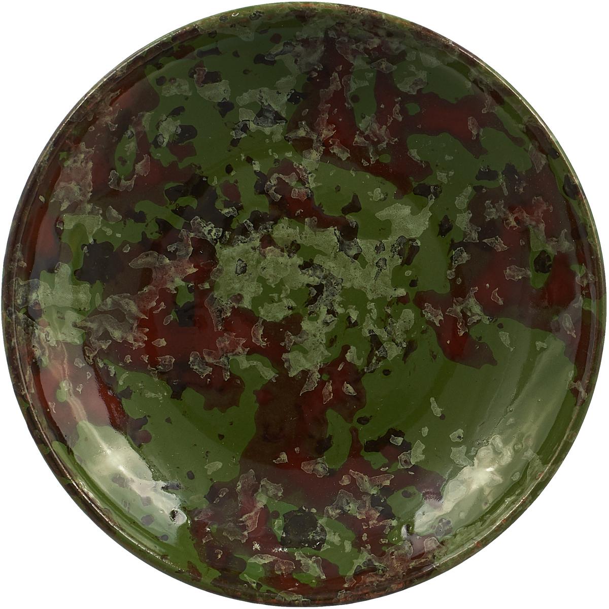 Фото - Блюдце Борисовская керамика Радуга, цвет: хаки, диаметр 10 см блюдце борисовская керамика радуга цвет темно серый диаметр 10 см