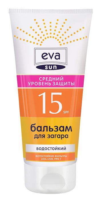 Pollena Eva Бальзам для загара Eva Sun средний уровень защиты SPF 15, 200 мл keenwell бальзам пролонгатор загара для лица sun attitude 60 мл