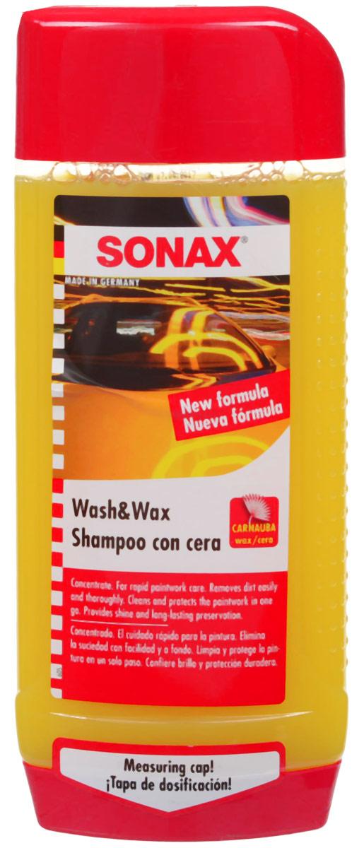 Автошампунь-концентрат Sonax, с воском, 500 мл автошампунь концентрат 2в1 sonax xtreme 1 л