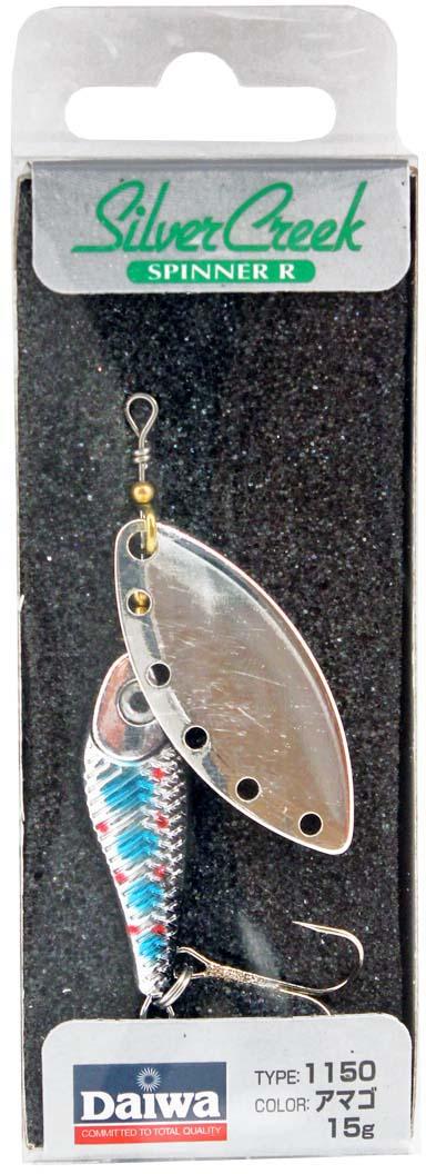 Блесна вращающаяся Daiwa Silver Creek Spinner-R. Amago, 15 г блесна вращающаяся daiwa silver creek spinner r akakin 9 г
