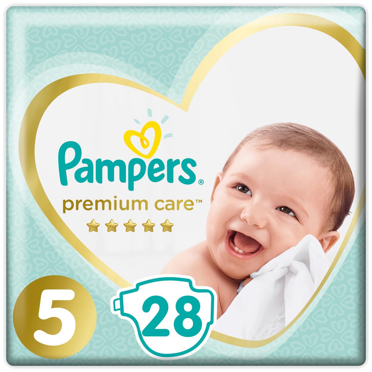 Pampers Подгузники Premium Care 11+ кг (размер 5) 28 шт подгузники pampers premium care 5 11 кг 42 шт