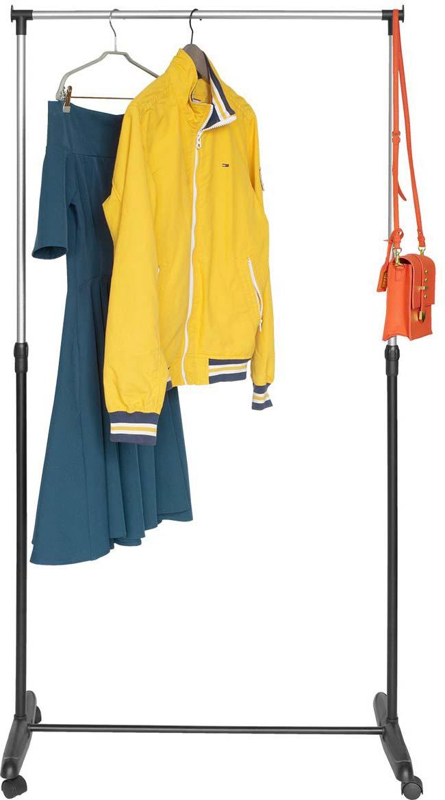 Стойка для одежды Artmoon Sam, мобильная, цвет: черный хром стойка телескопическая artmoon ajaks с двумя полками 70 5 x 24 x 245 см