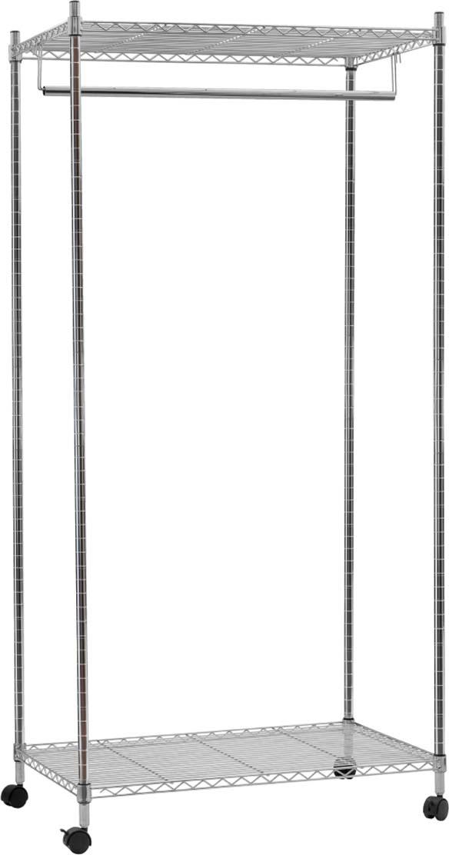 Стойка для одежды Artmoon Buffalo, с двумя полками и штангой для вешалок, 75 x 45 x 150 см стойка телескопическая artmoon ajaks с двумя полками 70 5 x 24 x 245 см