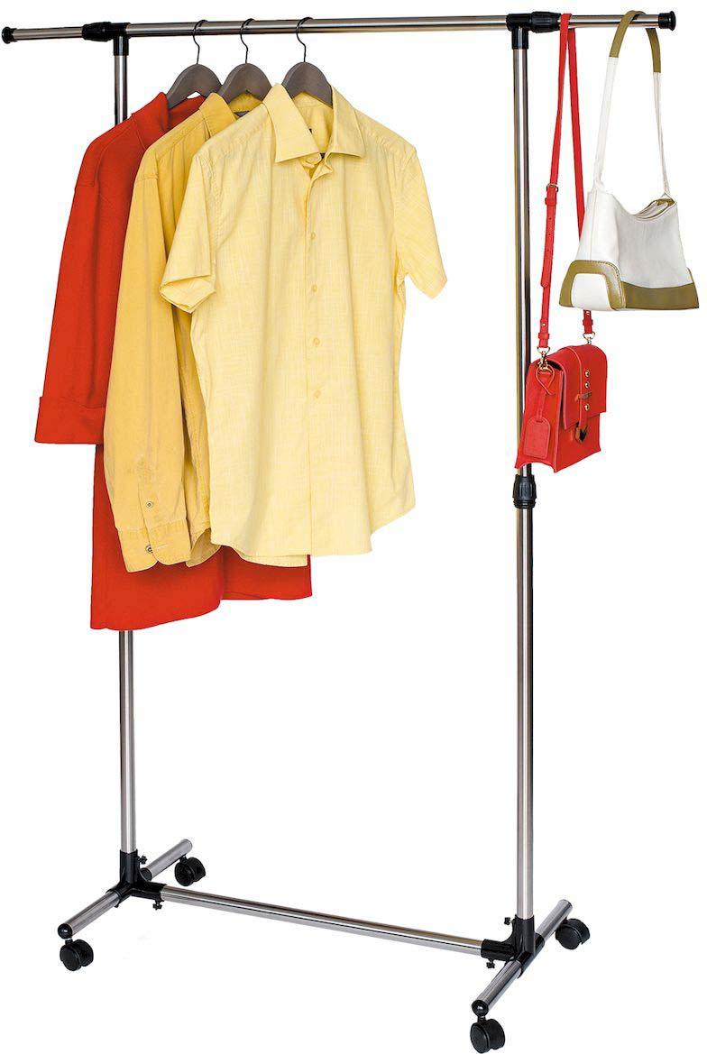 Стойка для одежды Tatkraft PEGASUS, с усиленной базой, боковые телескопические штанги для офиса стойка для открыток