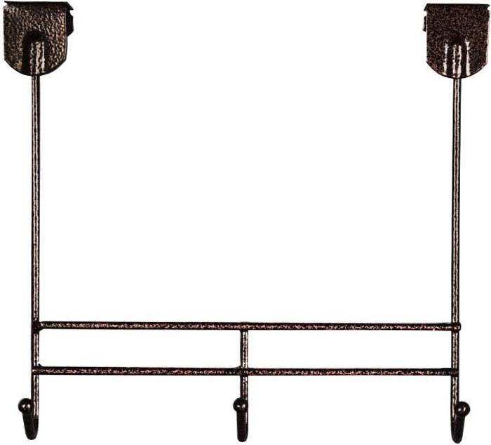 Вешалка надверная ЗМИ Нота 3, металическая, цельносварная, три крючка, цвет: медный антик вешалка надверная зми нота 4 металическая цельносварная четыре крючка цвет медный антик
