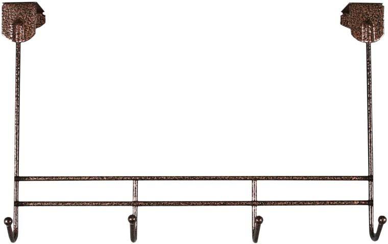 Вешалка надверная ЗМИ Нота 4, металическая, цельносварная, четыре крючка, цвет: медный антик вешалка надверная зми нота 4 металическая цельносварная четыре крючка цвет медный антик